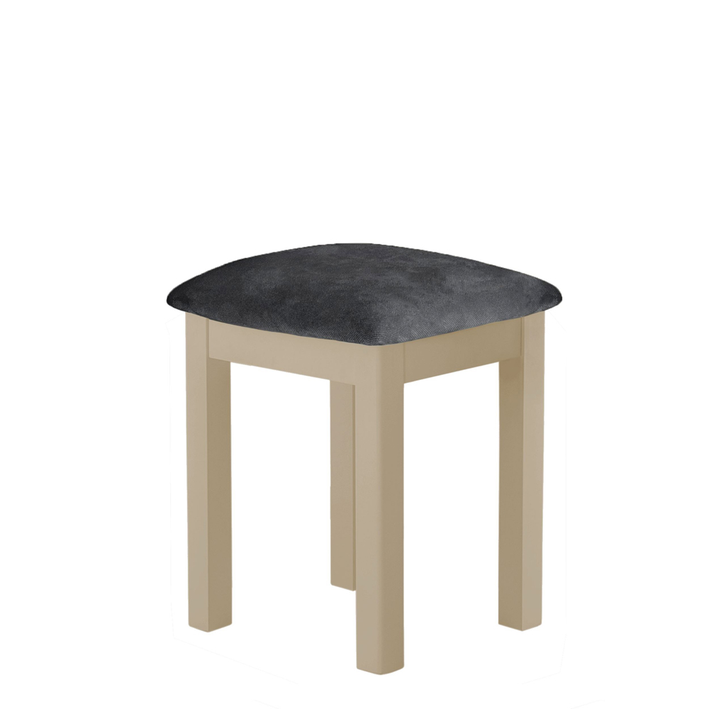 Pemberley Stool Grey Seat Pad Pebble