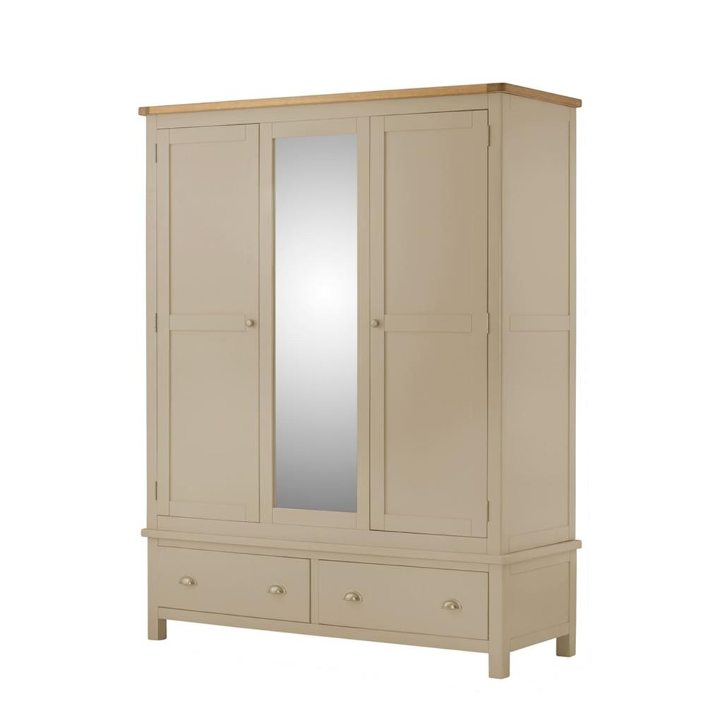 Pemberley Triple Wardrobe Pebble