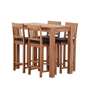 Royale Breakfast Table and 4 Breakfast Stools