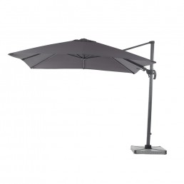 Lichfield 2.7m Square Side Parasol Grey Inc Cover & Base