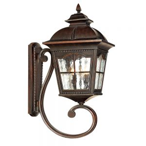 Searchlight 1571BR Pompeii Brown Stone Outdoor Wall Light
