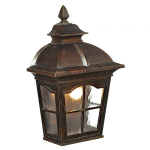 Searchlight 1576BR Pompeii Brown Stone Outdoor Wall Light