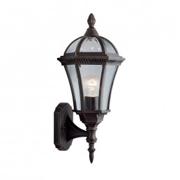 Searchlight 1565 Capri Outdoor Wall Light in Rustic Brown