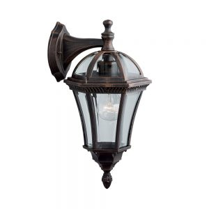 Searchlight 1563 Capri Outdoor Wall Light in Rustic Brown