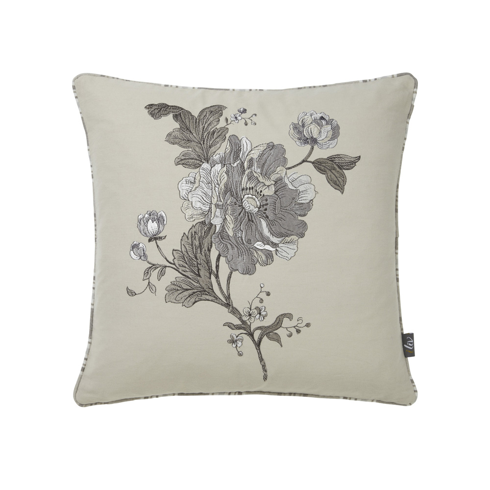 Aquitaine Cushion – Charcoal