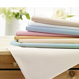 Helena Springfield Plain Dye Fitted Sheet Ivory