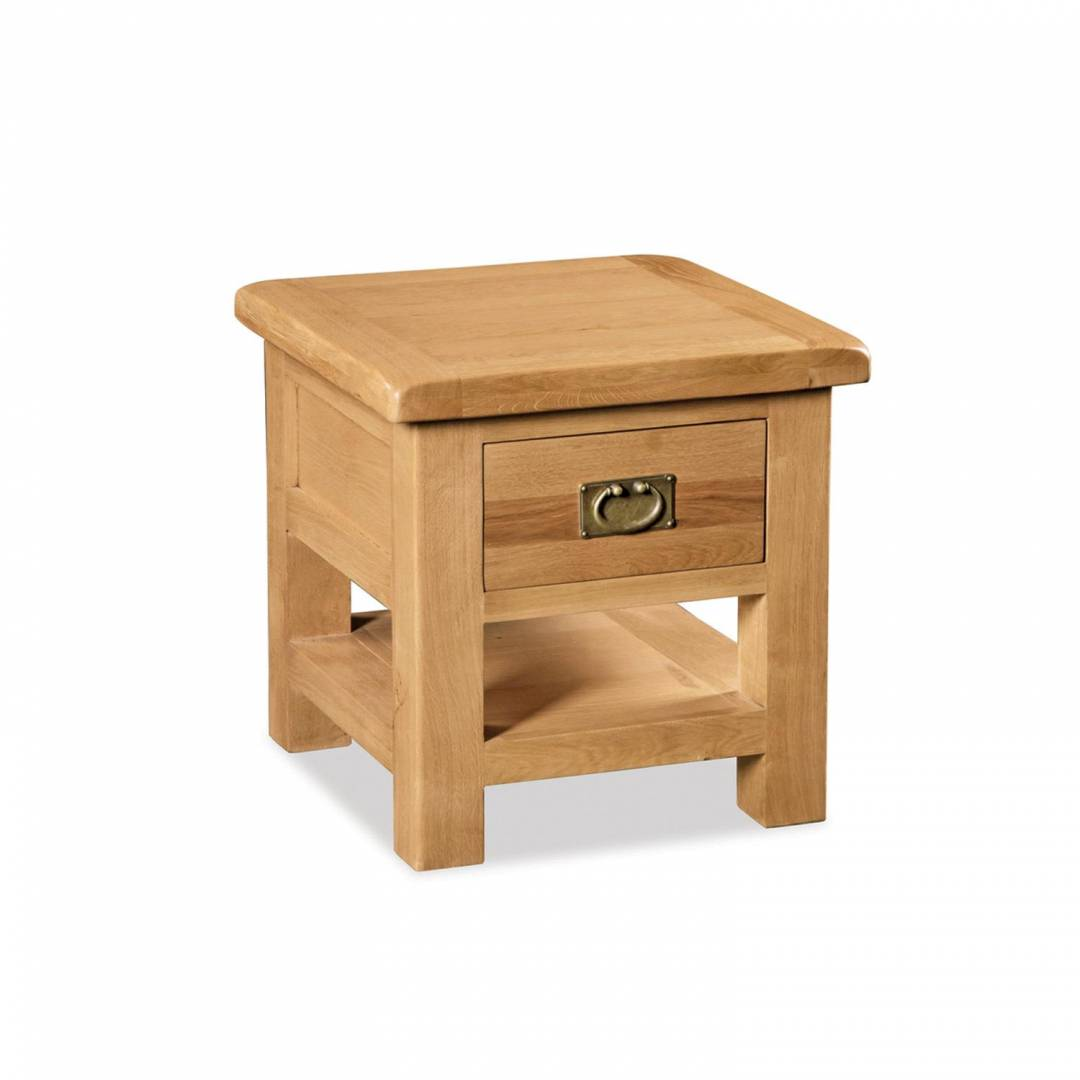 Rural Charm Lamp Table with Drawer