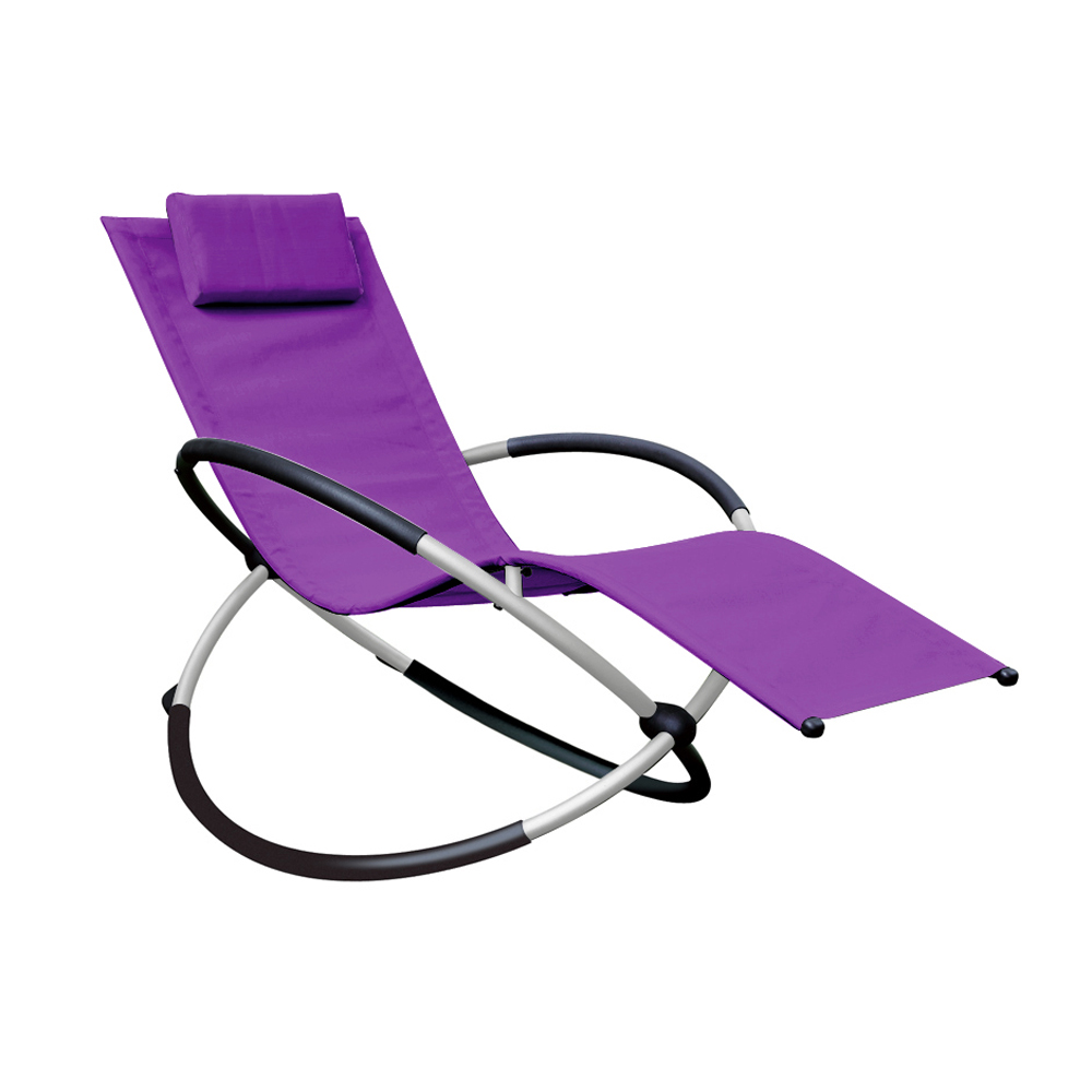 Circular Rocking Chair Purple