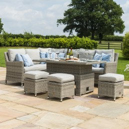 Oakham Corner Sofa Set with Ice Bucket & Rising Table
