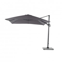 Truro 3m Square Side Parasol Grey Inc Cover and Base