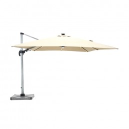 Truro 3m Square Side Parasol Sand Inc Cover & Base