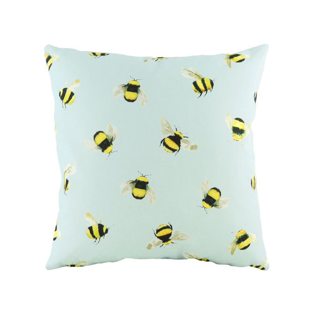 Busy Bees Cushion Blue