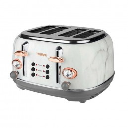 Tower Marble Effect 4 Slice Toaster