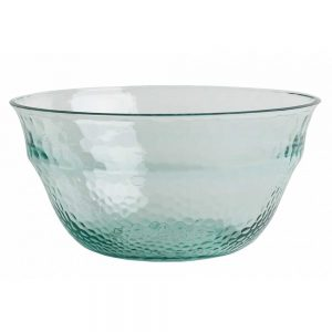 Recycled Glass Effect Salad Bowl