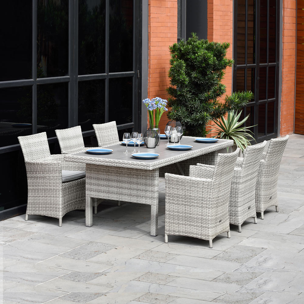 Antigua 200cm Rectangle Table & 6 Chairs