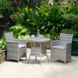 Antigua Round 70cm Dining Table & 2 Carver Chairs