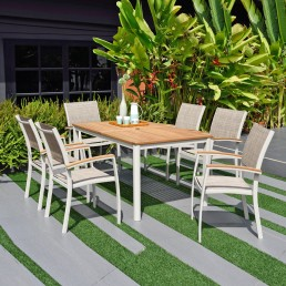 Eden Rectangle 150cm Table & 6 Chairs