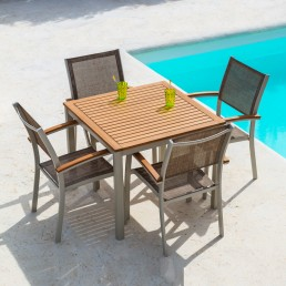Eden Square 90cm Table & 4 Chairs