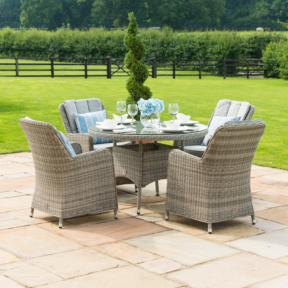 Oakham Round 120cm Dining Set & 4 Chairs
