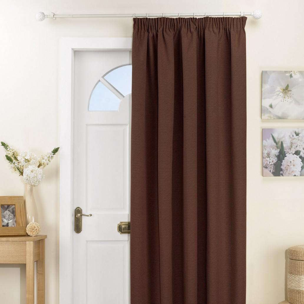 Kent Single Door Curtain Chocolate