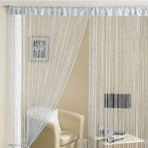 Glam Lurex String Panel Grey 90x200cm