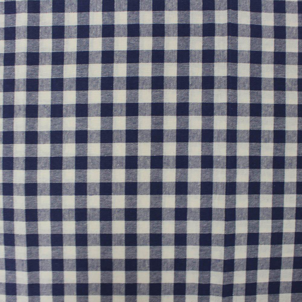 Marson Imports Cotton Gingham Fabric Navy