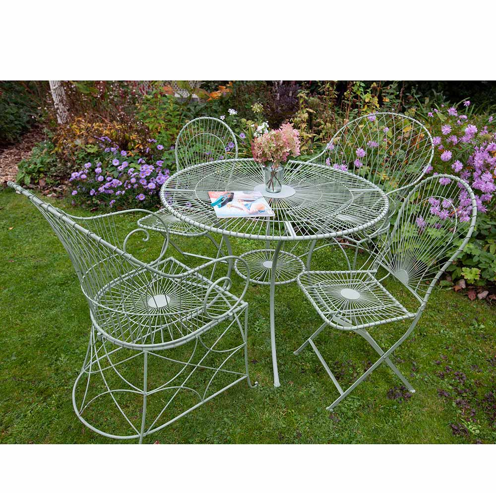 Menerbes Table and 4 Chairs Bistro Set