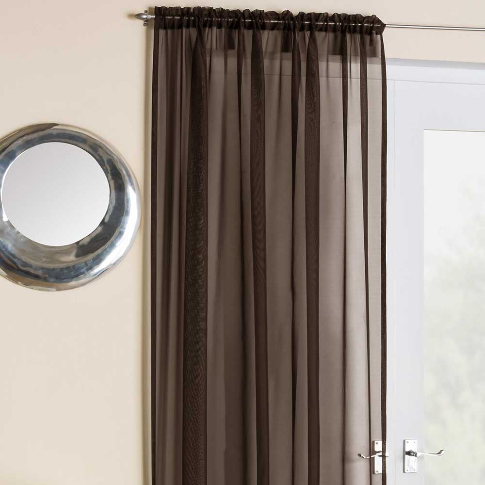 Crystal Voile Panel Chocolate