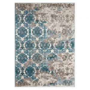 Karma Hex White/Nile Blue Rug