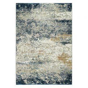 Canyon Abstract Blue/Gold Rug