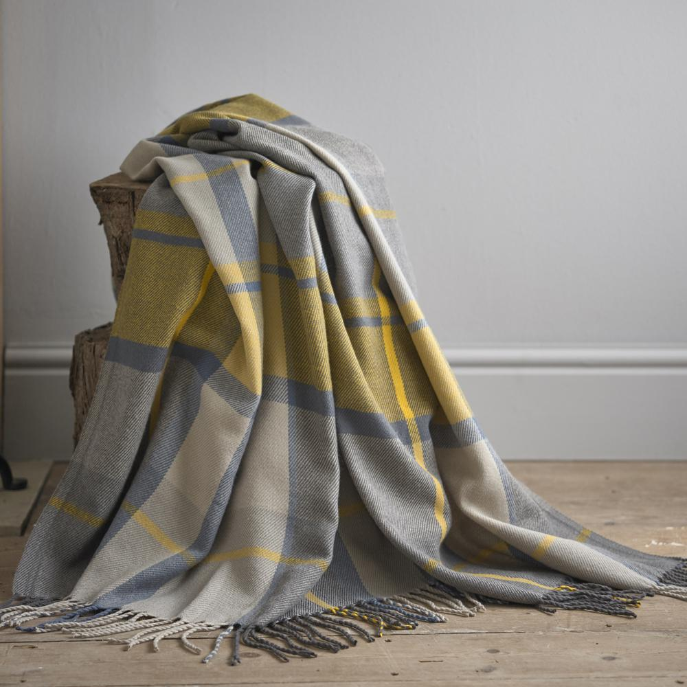 Marsden Yellow 150cm x 200cm Throw