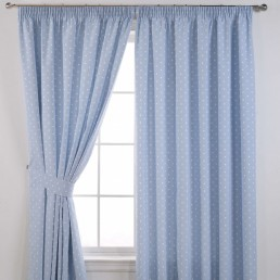 Dotty Readymade Curtains Powder Blue