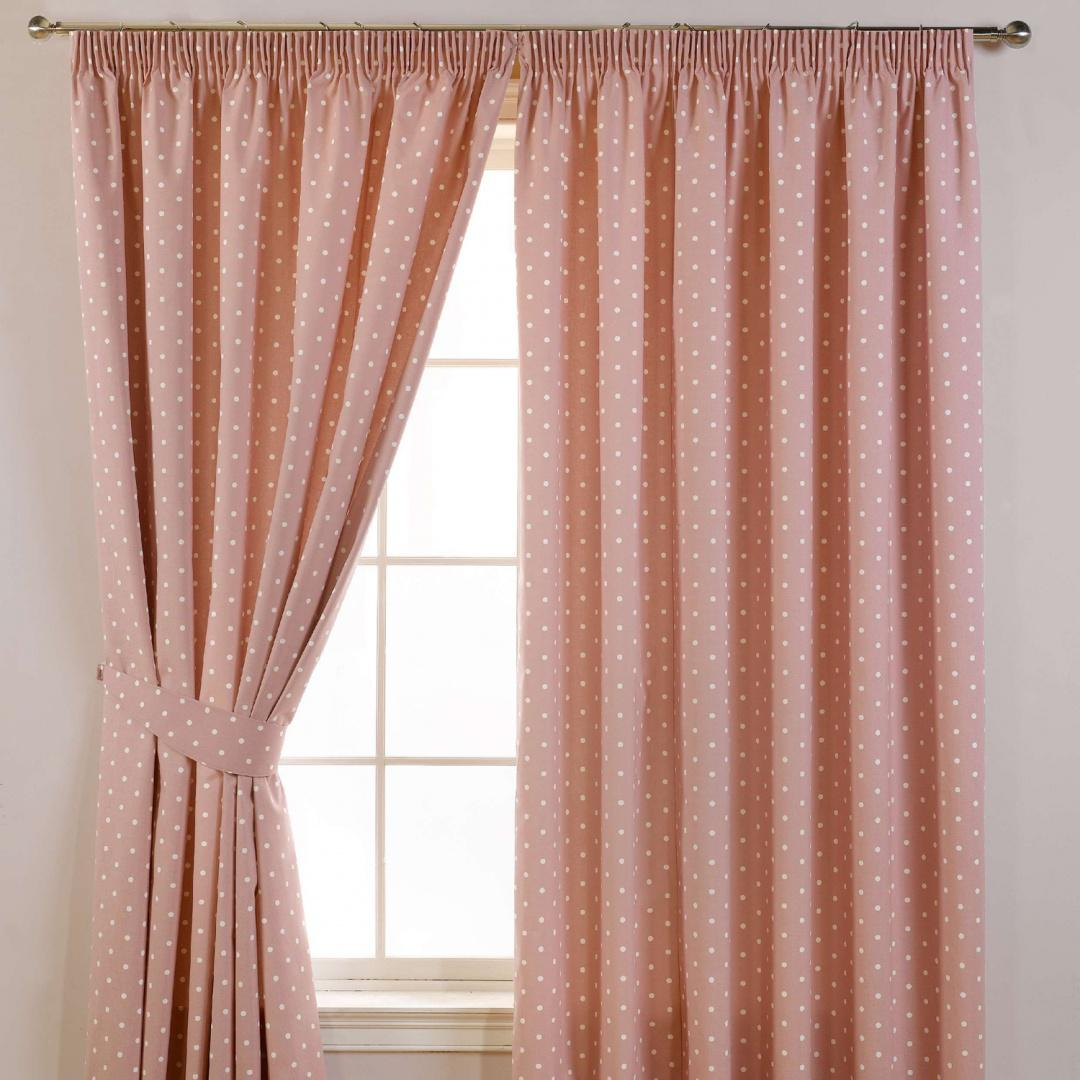 Dotty Readymade Curtains Rose