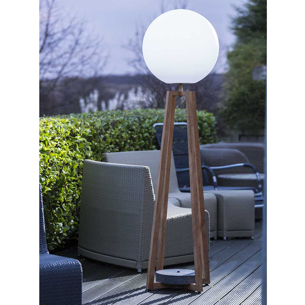Blanca Teak LED Outdoor Floor Lamp