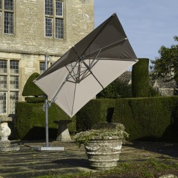 Lichfield 2.7m Square Side Parasol Sand Inc Cover & Base
