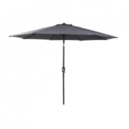 3.0m Parasol With Crank and Tilt Grey