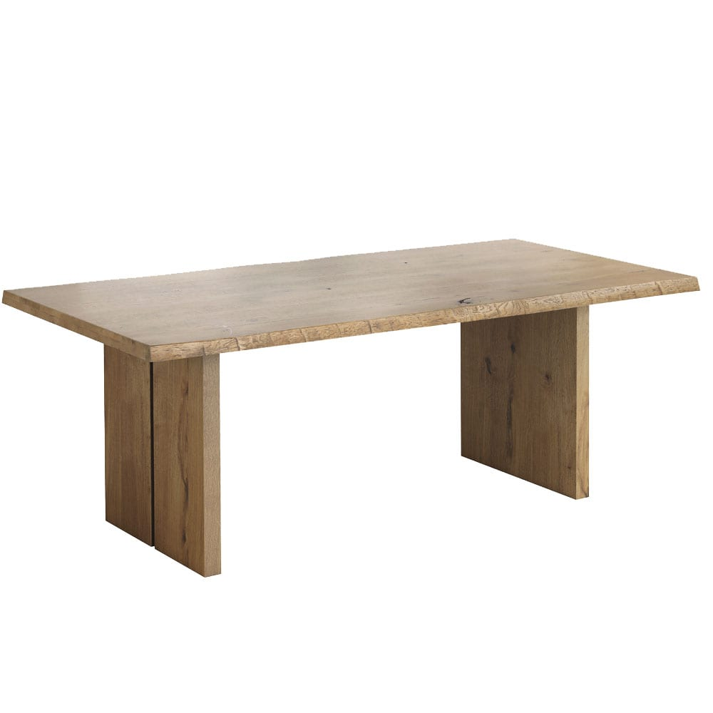 Oaklands 2100 Dining Table With Wooden Legs in Waxed Oak