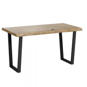 Oaklands 1400 Dining Table With Metal Legs in Waxed Oak