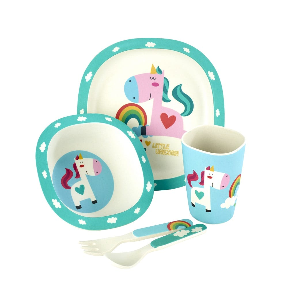 Unicorn 5 Piece Childrens Dinning Set