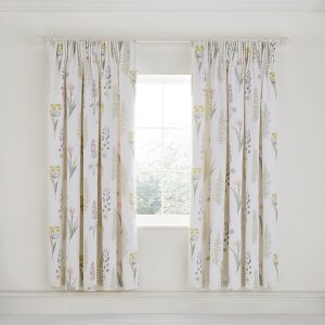 Sanderson Floral Bazaar Lined Curtains Fig 66 x 72""