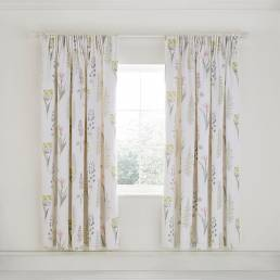 Sanderson Floral Bazaar Lined Curtains Fig 66 x 72