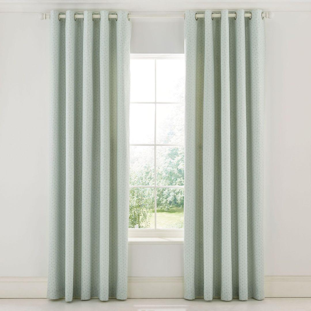 Sanderson Chiswick Grove Curtains Sea Pink 66 x 72