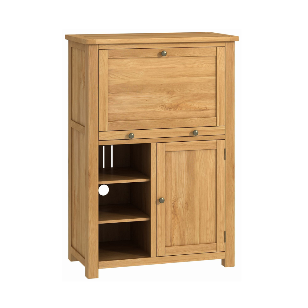 Pemberley Office Low Bureau Oak