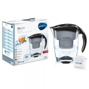 Brita - Elemaris Meter 3.5L XL Water Filter Jug - Black