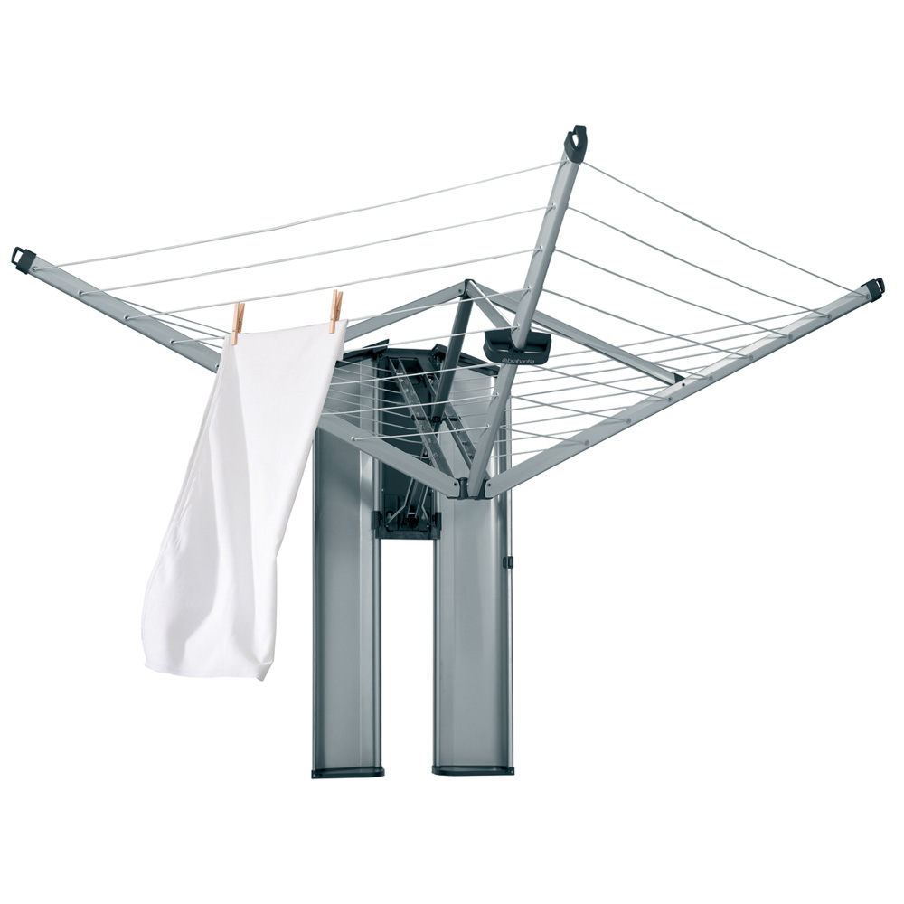 Brabantia WallFix Retractable Washing Line with Fabric Cover, 24 m