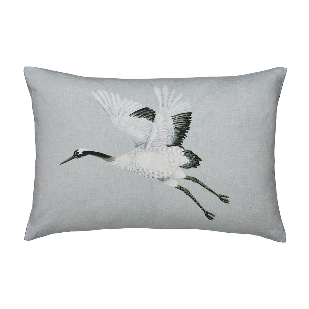 Harlequin Cranes In Flight Cushion 60x40cm