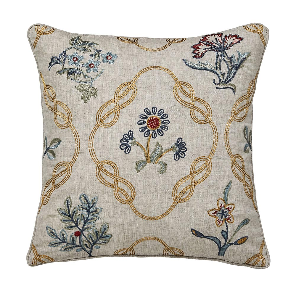 William Morris Pure Strawberry Thief Cushion 40 x 40 Brown