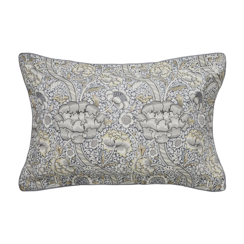 William Morris Pure Wandle Oxford Pillowcase Grey