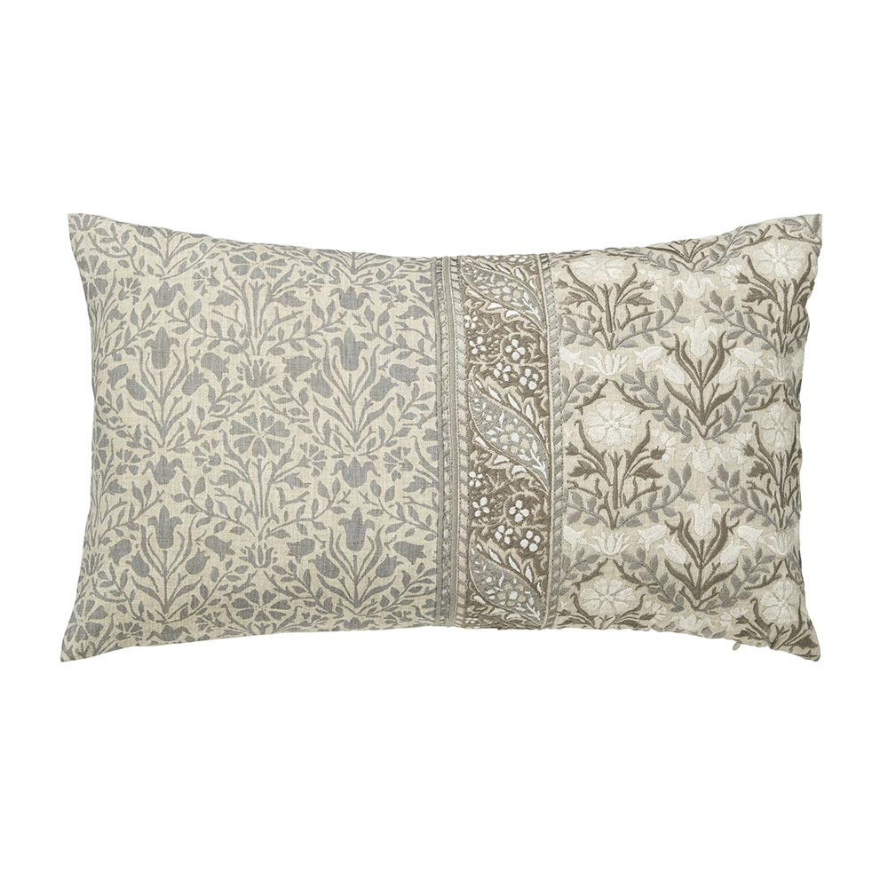 William Morris Pure Wandle Cushion 50 x 30 Grey