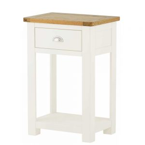 Pemberley 1 Drawer Console Table White